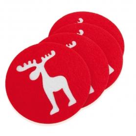 Conjunto de 4 Coasters Natal
