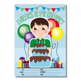 Convite de aniversário para meninos