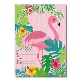 Flamingos Birthday Convites
