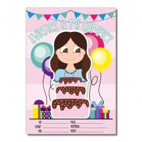 Convites do aniversário das meninas