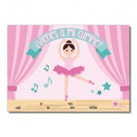 Convite do aniversário do balé