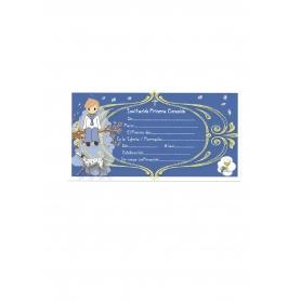 Comunhão Convite Azul Criança