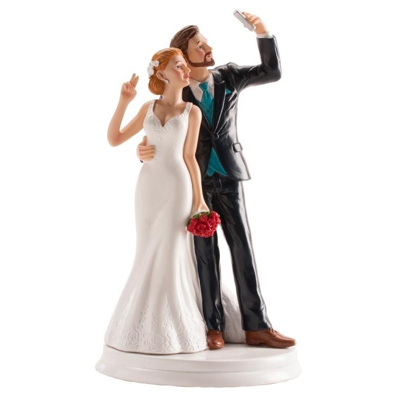 Casal de casamento Selfie