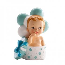 Presente de criança e balões de batismo figura