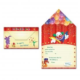 Convite do envelope do circo