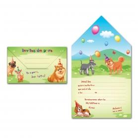 Convite do envelope do cão
