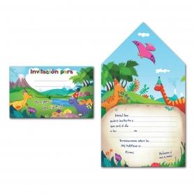 Convite do envelope do dinossauro