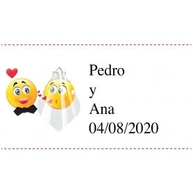 Etiquetas de casamento personalizadas