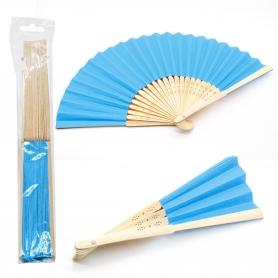 Ventilador de madeira azul turquesa